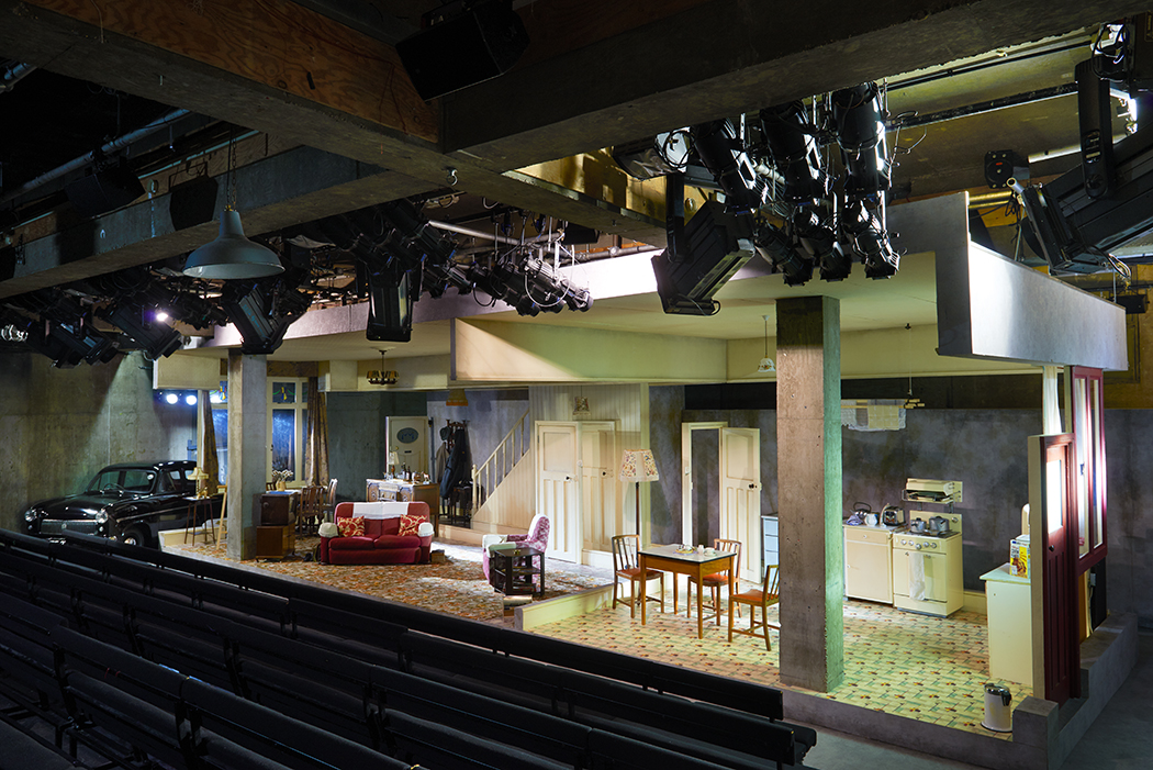 The Menier Chocolate Factory featuring the set of Pack of Lies