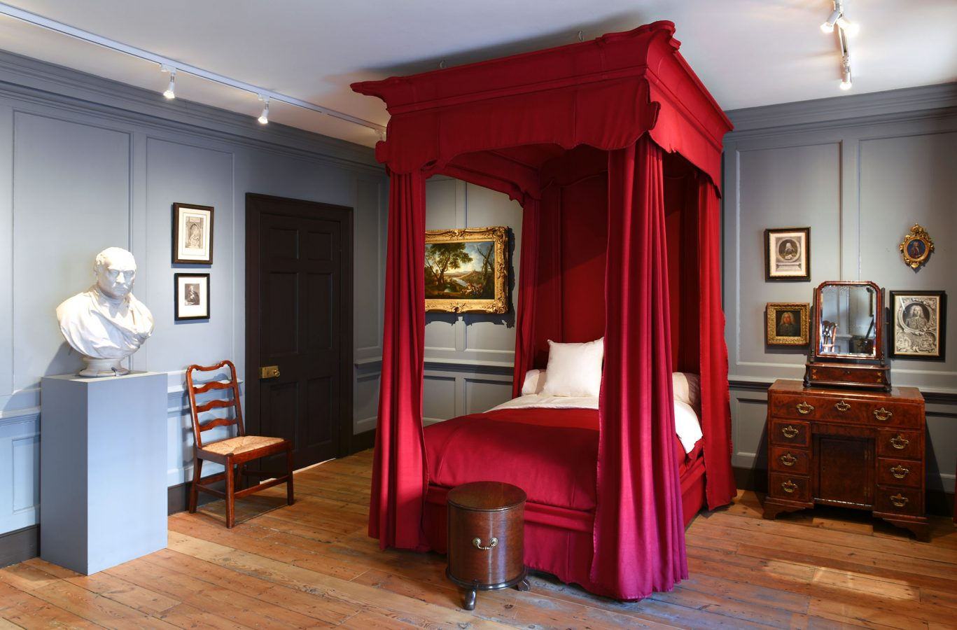 Handel Hendrix in London The Bedroom in which Handel died