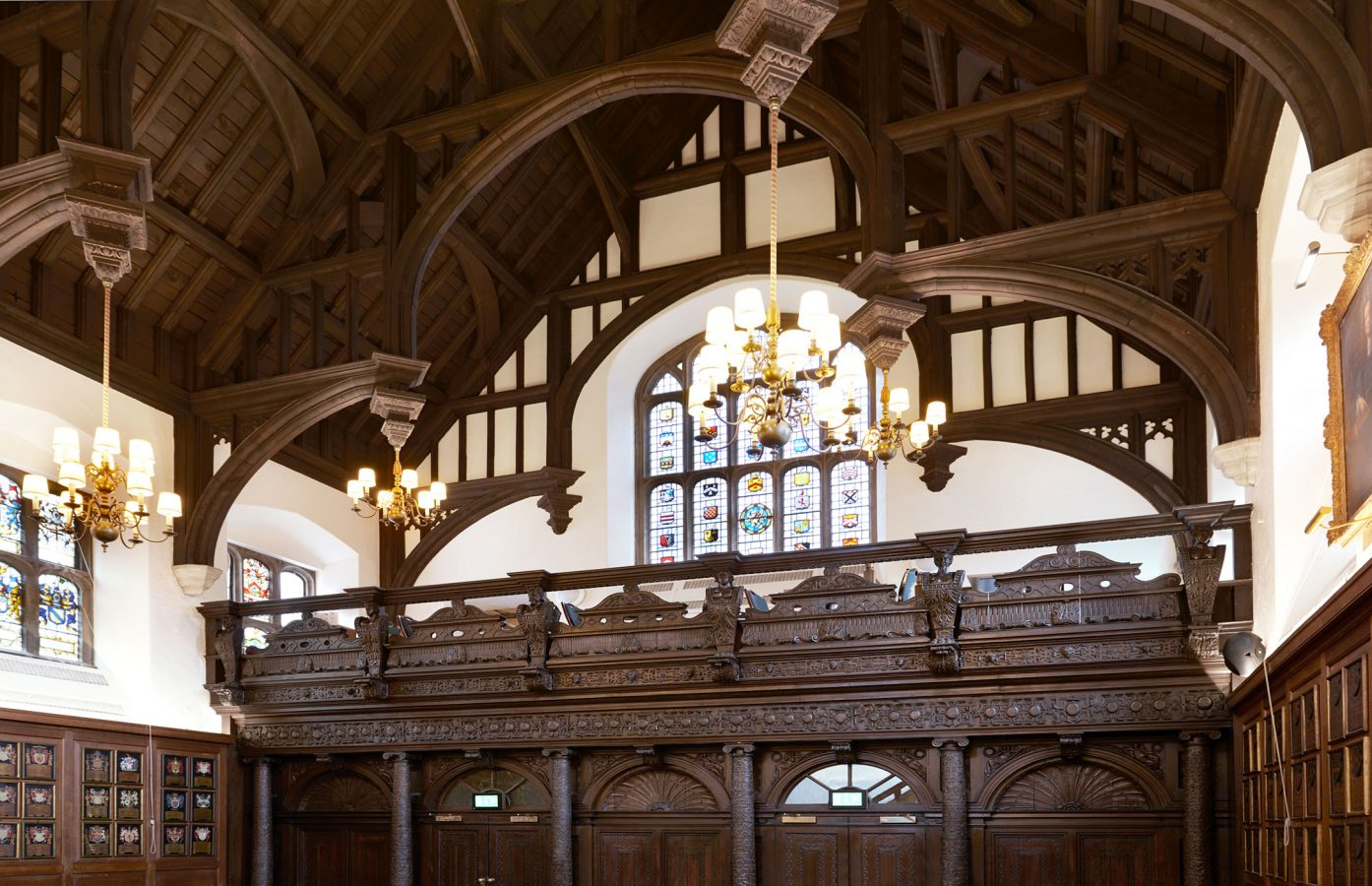The Honourable Society of Grays Inn Hall Showing The Armada Screen