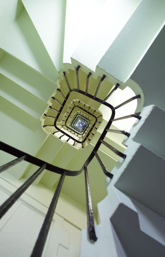 Staircase leading to the belfry - 334 steps