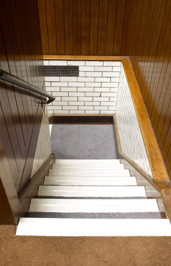 The Old Bailey Stairs leading to cells from the dock in court one