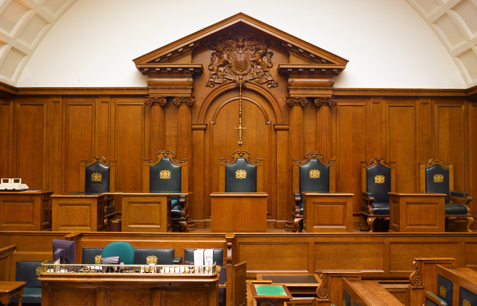 The Old Bailey - view from the-dock in court one