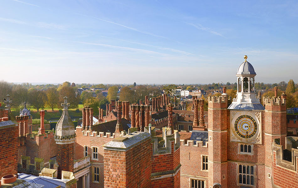 The view of Hampton Court from the roof of Hampton Court Palace