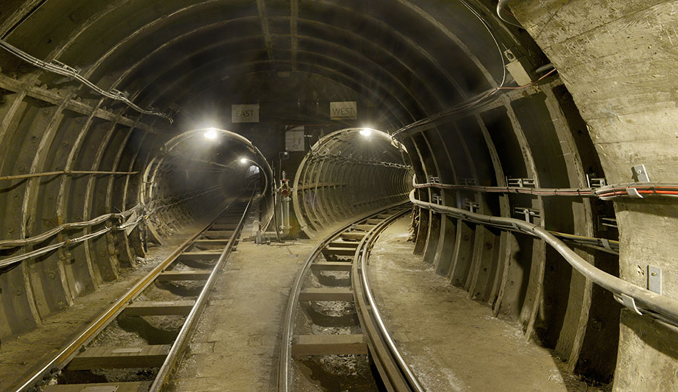 East and West tunnels in Mail Rail