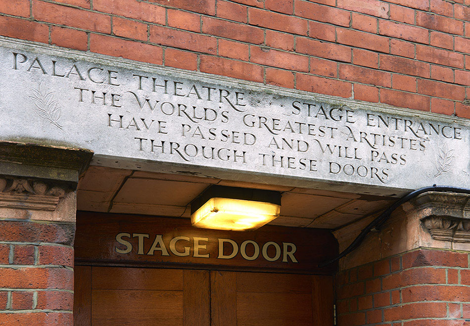 Stage door Palace Theatre