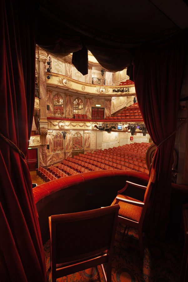 View from the royal box Novello Theatre