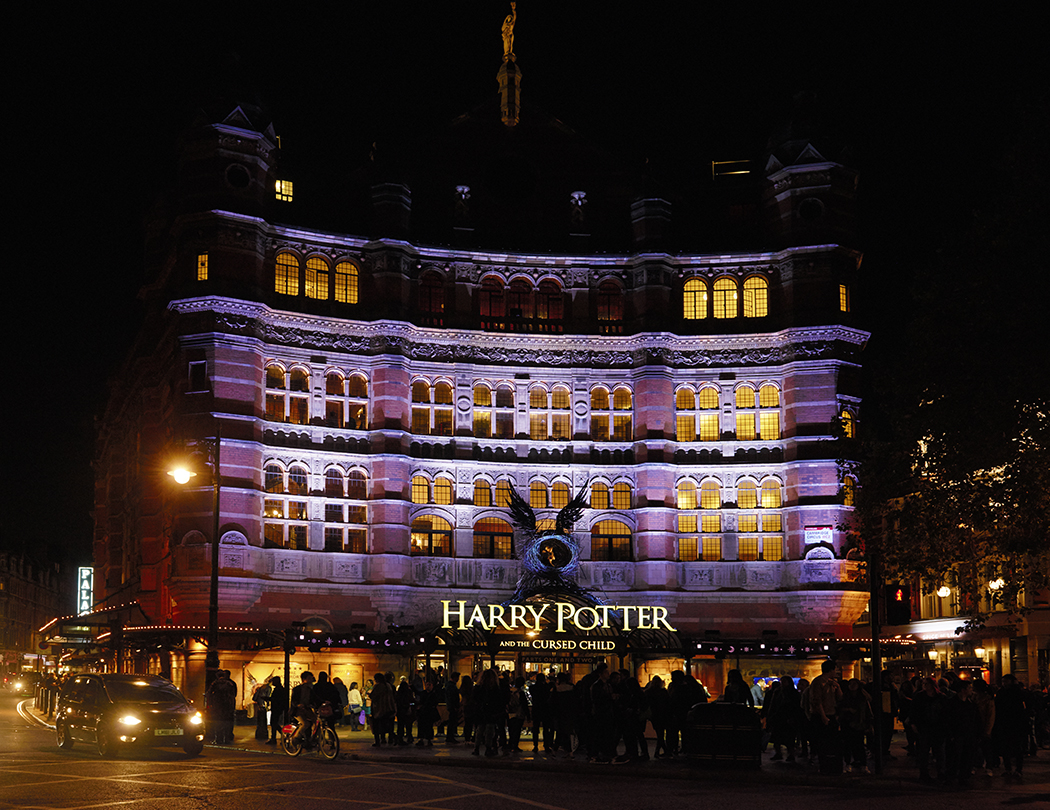 The Palace Theatre showing Harry Potter