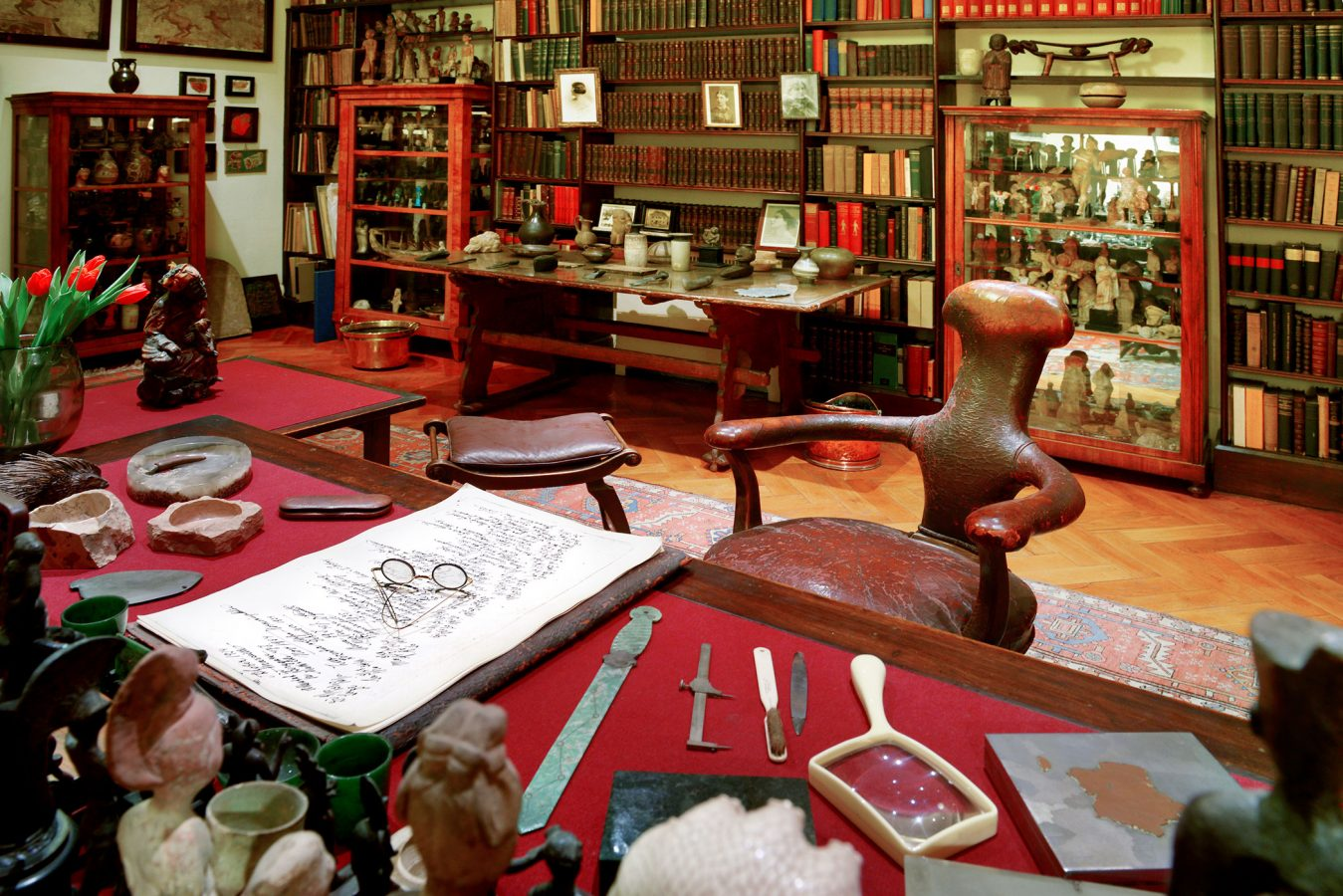Sigmund Freud's House Desk in Library