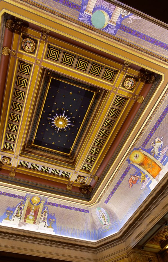 Freemasons Hall Ceiling of Grand Temple