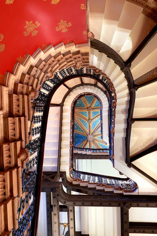 St Pancras Hotel Staircase Looking Up