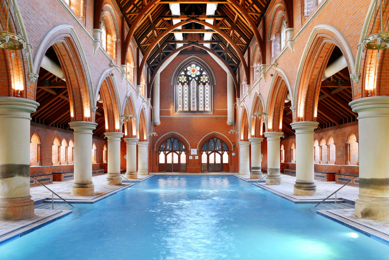 The Virgin Active Repton Park swimming pool in a former mental asylum