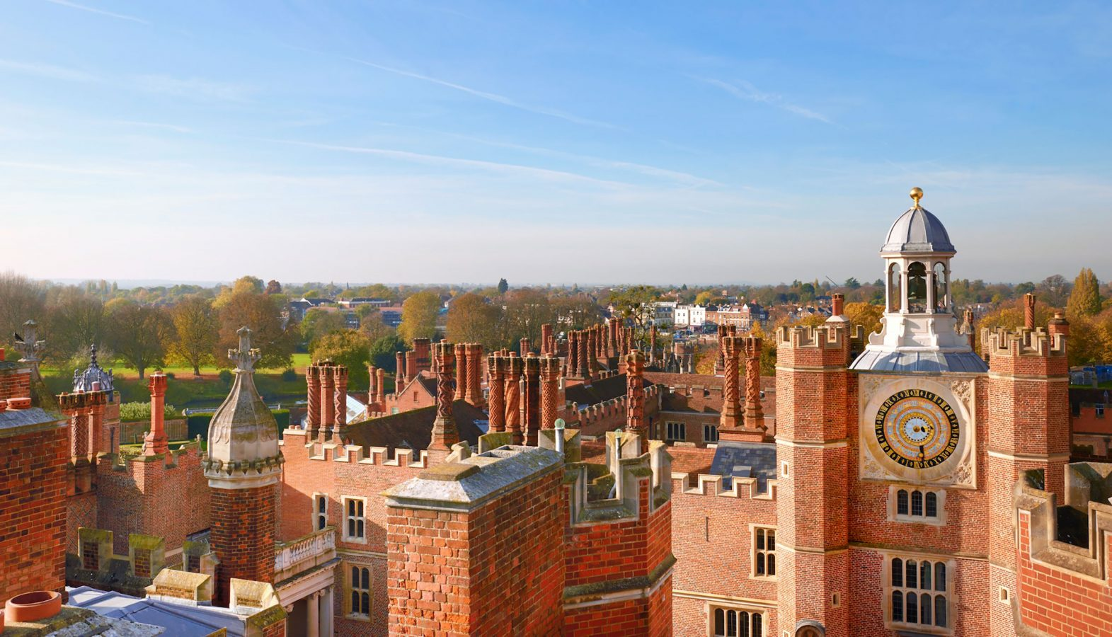 Hampton Court Palace from the roof
