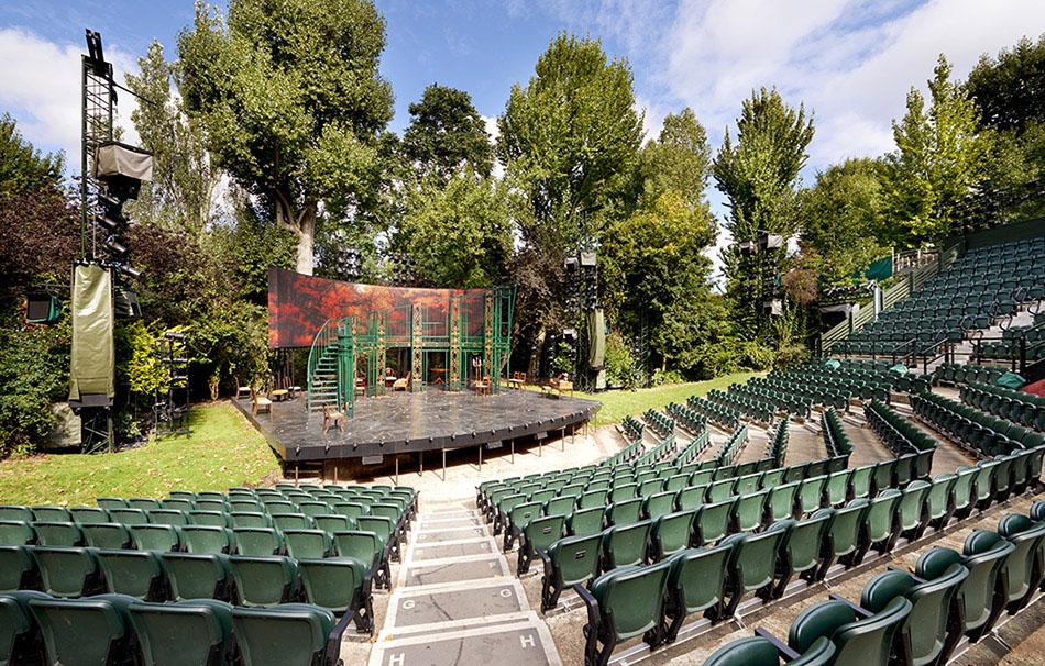 Auditorium view Regents Park Open Air Theatre Pride and Prejudice