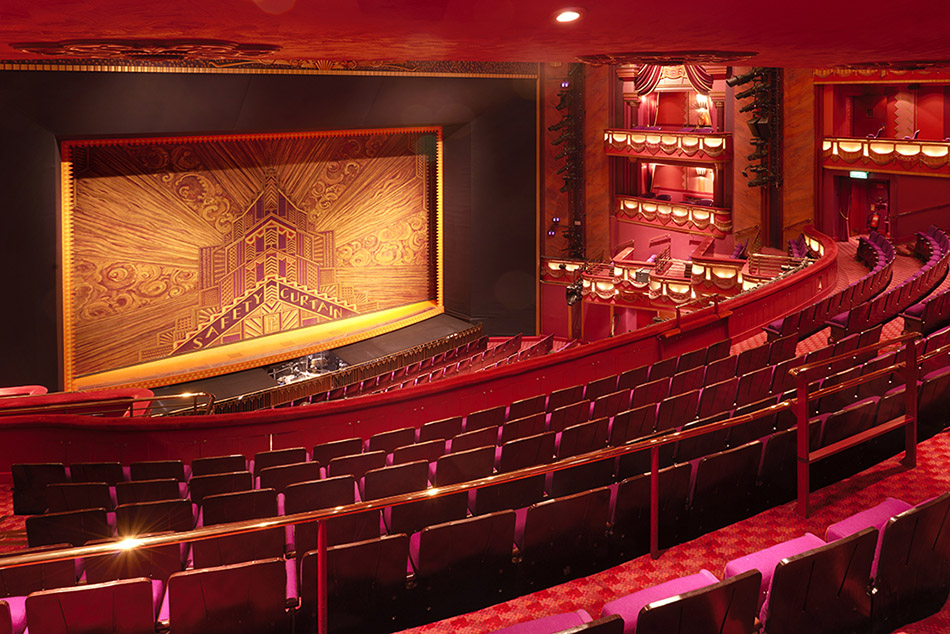View of stage Prince Edward Theatre