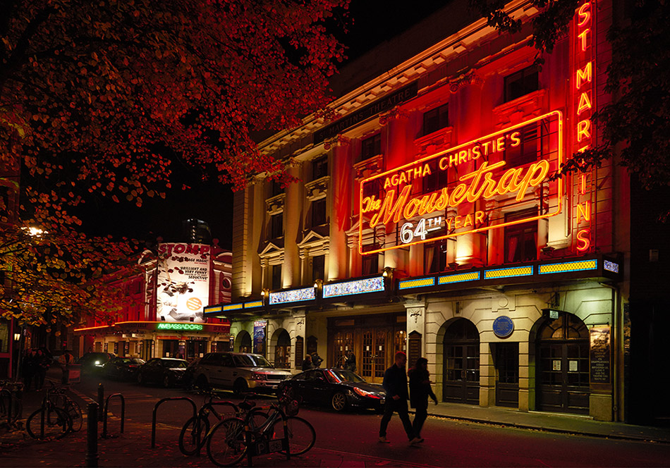 The mousetrap at St Martins Theatre